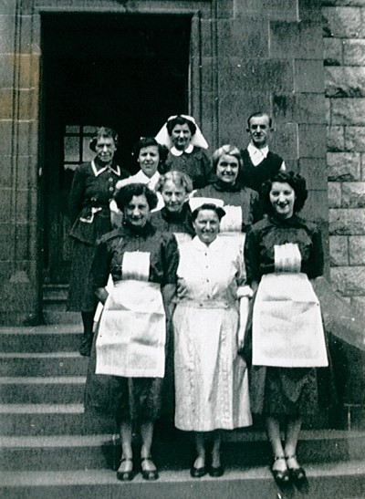 Medical staff during the hospital years